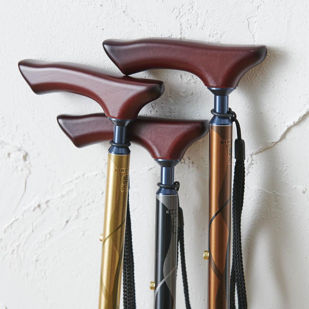 カインドケア/軽量折り畳み式伸縮ステッキ(日本製)