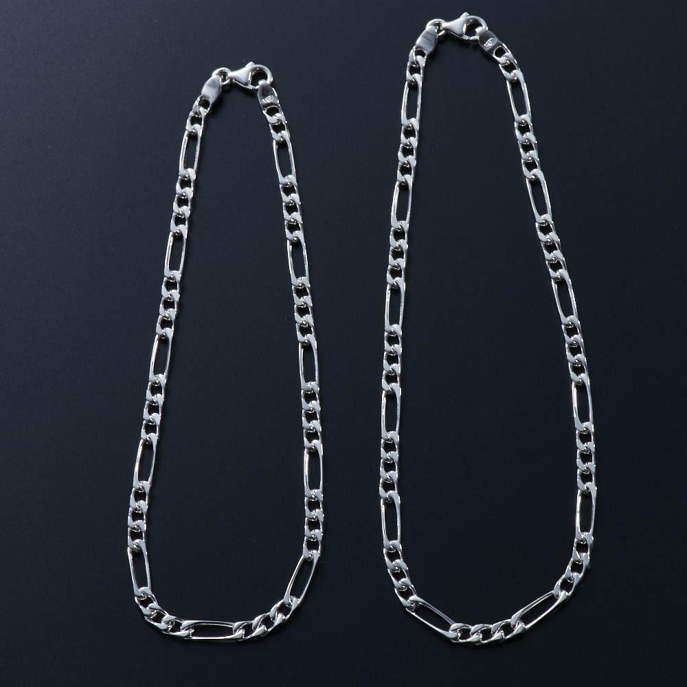 SATURNO/サツルノ 【メンズ】 シルバーアンクレットM(イタリア製) サイズ違いの商品もございます。左:シルバーアンクレットM(当商品) 右:シルバーアンクレットL(申込番号GF0754)