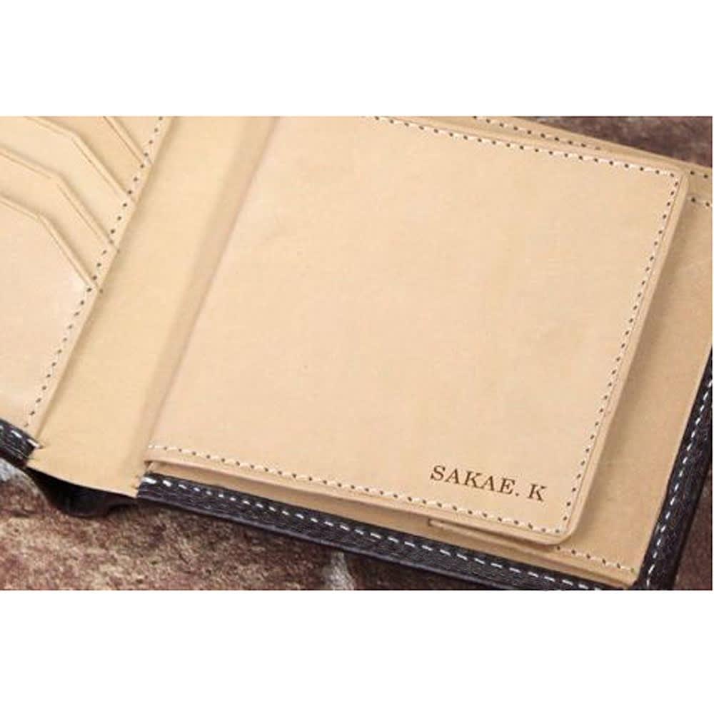 ブライドル レザー 二つ折り財布 (名入れ刻印・名入れオーダー) お名前の刻印を入れることができ、ギフトにもぴったり。※画像はポケットの形状がお届けの商品と異なります。