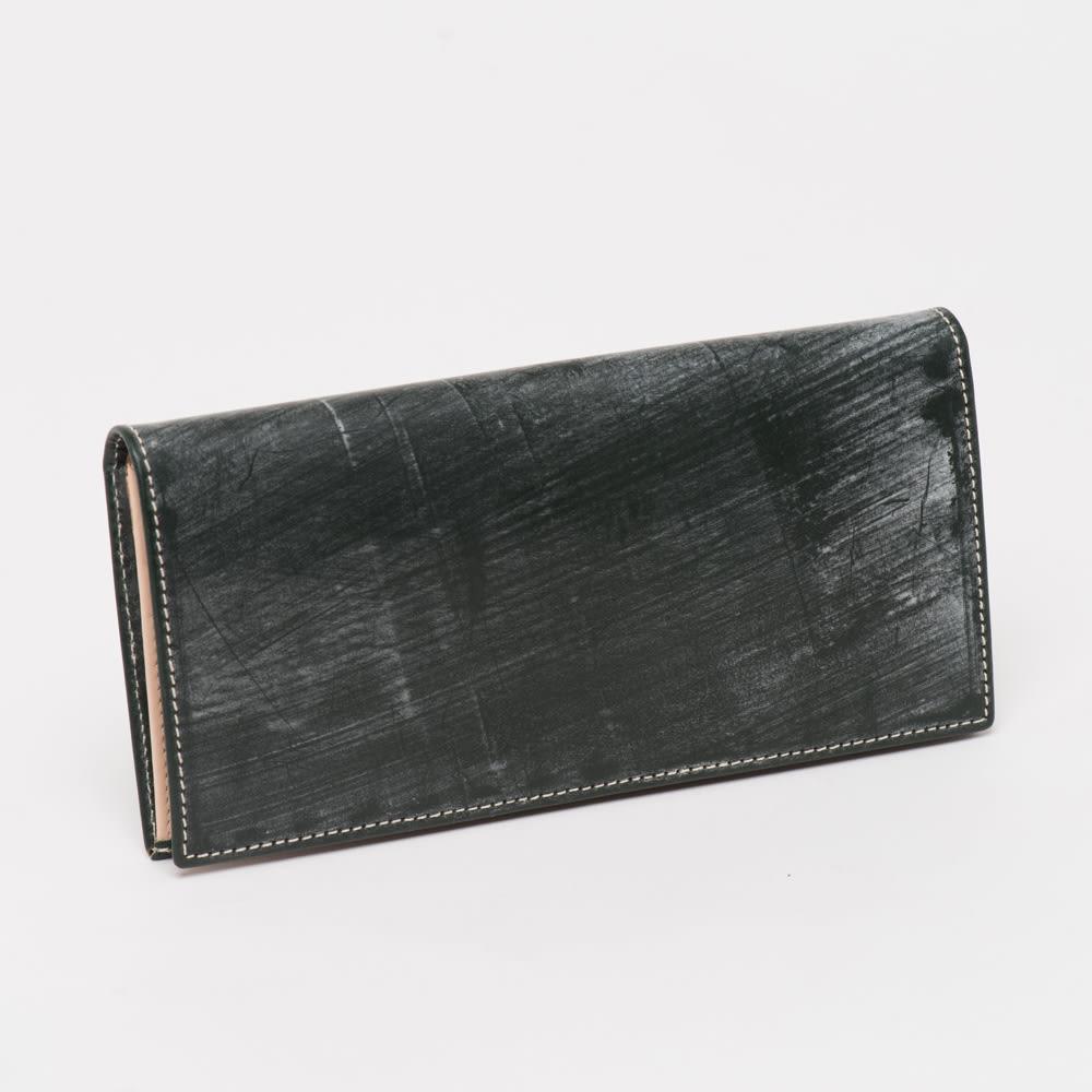 ブライドルレザー長財布 (オ)グリーン