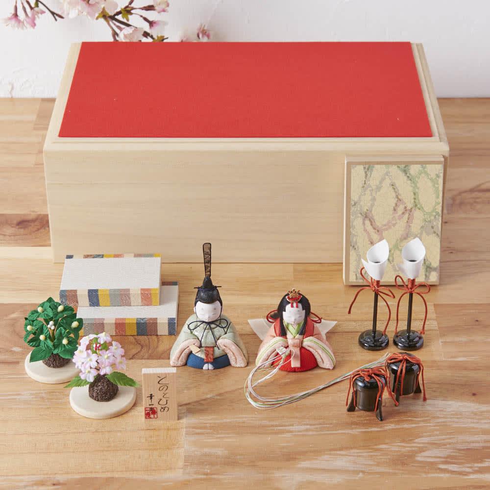桐箱入とのとひめ 雛人形 セット内容
