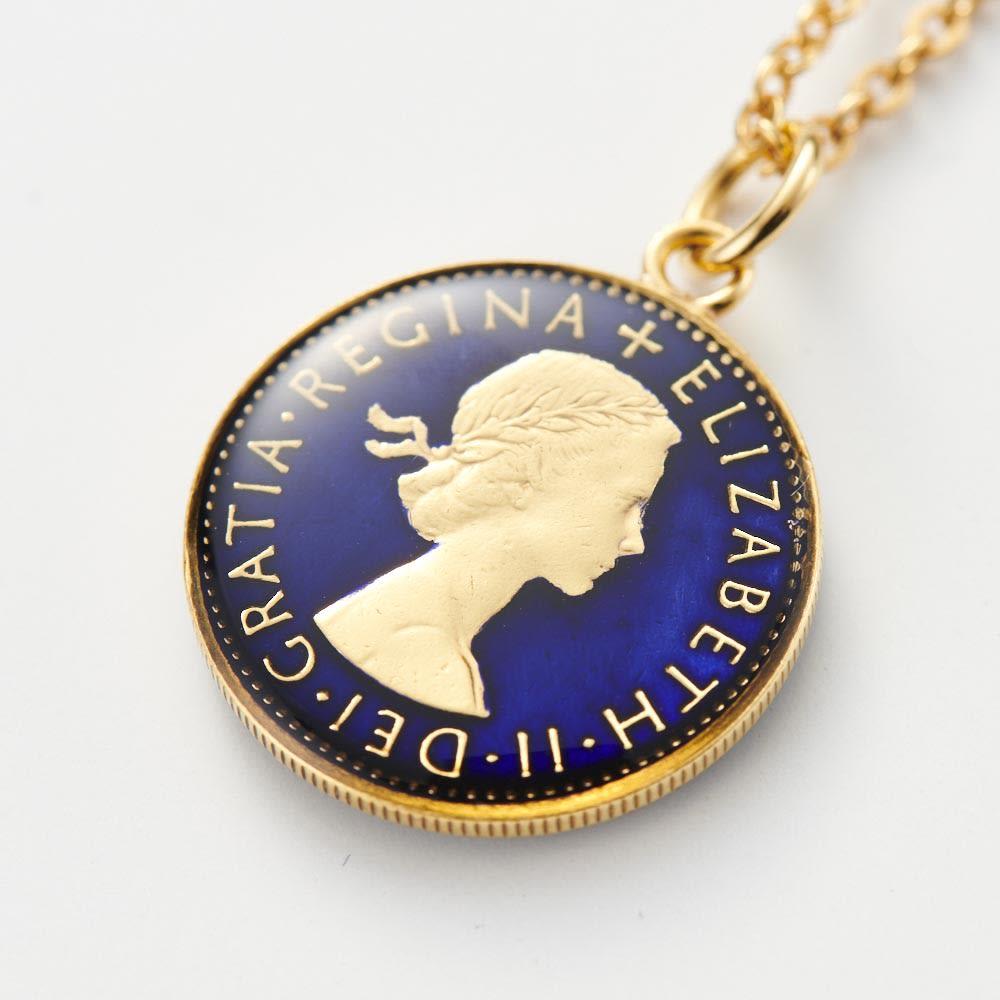 エリザベス2世6ペンスコインペンダント コイン裏面