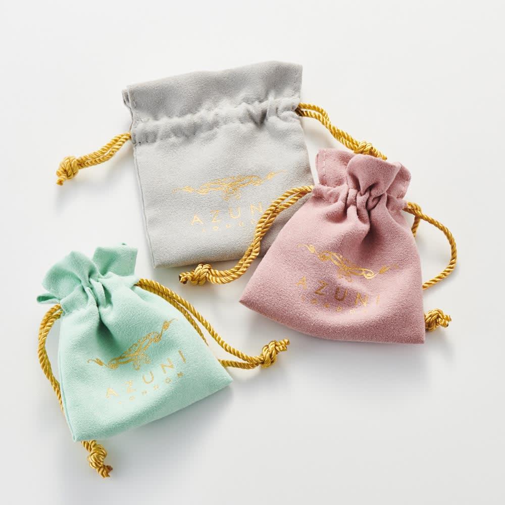 AZUNI ピアス&ネックレスセット アクアカルセドニー  【イギリス王室キャサリン妃着用で話題のブランド】 ギフトにも嬉しい袋に入れてお届け。※袋の色やデザインは変更になる場合がございます。