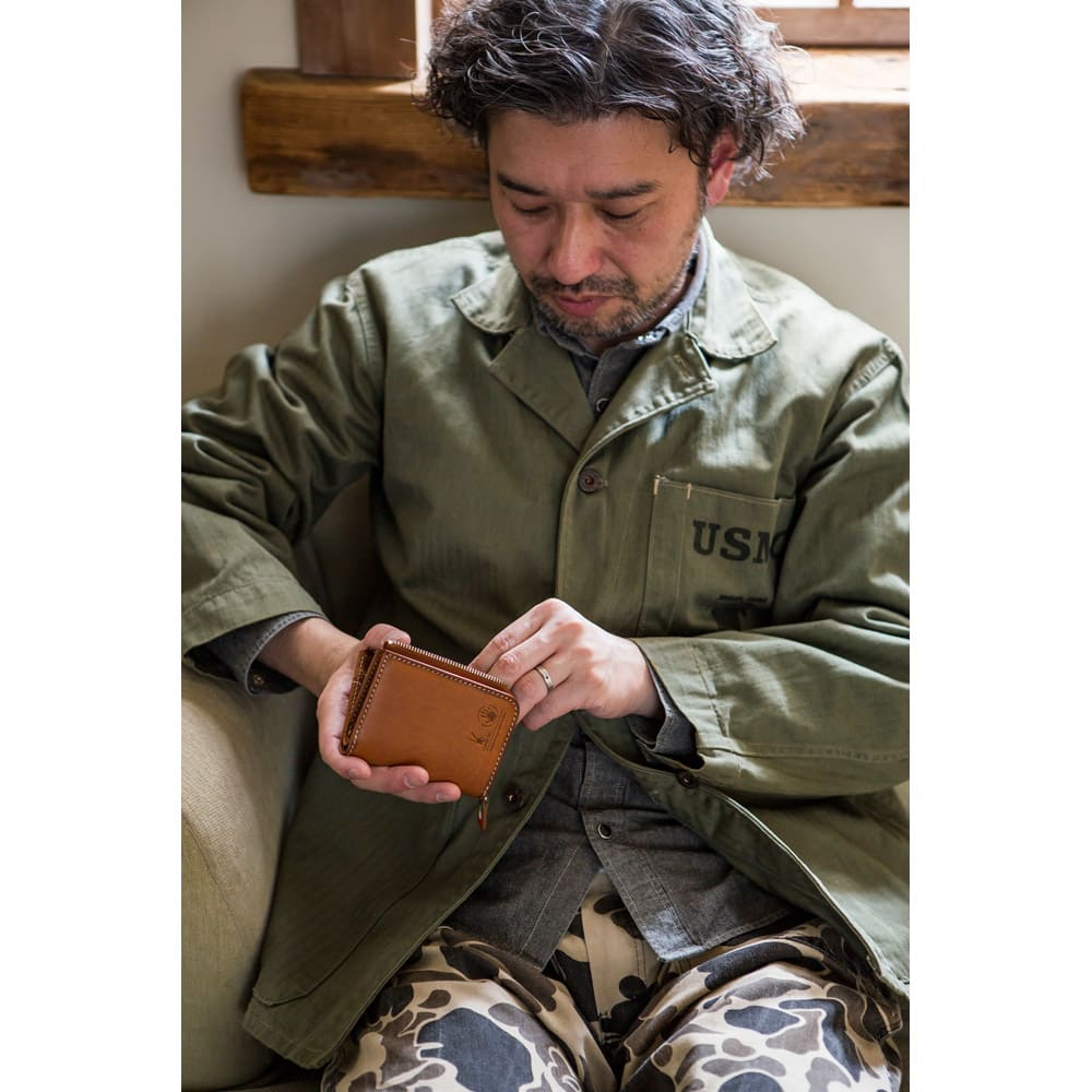 オリーチェ カード&コイン&キーケース 名入れ対応 (ア)ブラウン