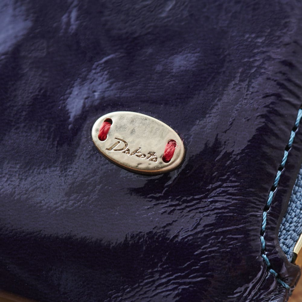 Dakota(ダコタ)/イタリア製牛革光沢なめし財布 ミニ三つ折り財布 (ウ)ネイビー
