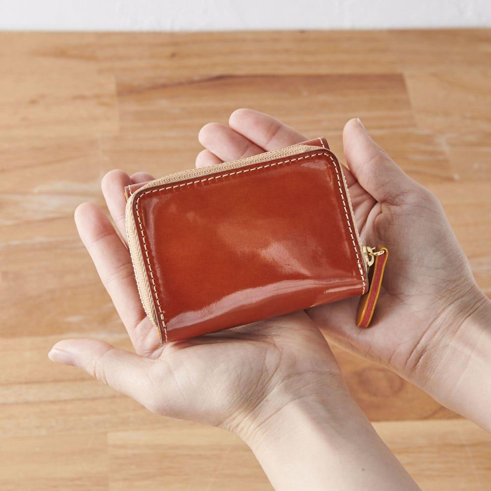Dakota(ダコタ)/イタリア製牛革光沢なめし財布 ミニ三つ折り財布 コンパクトで小さいカバンでもOK!