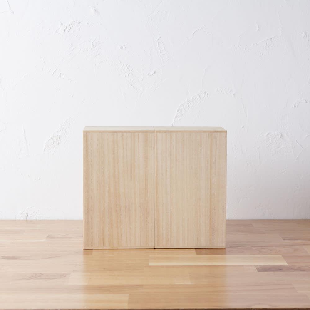 想ひ箱 日本製ミニ仏壇 ナチュラル    背面も美しい仕上がりです。