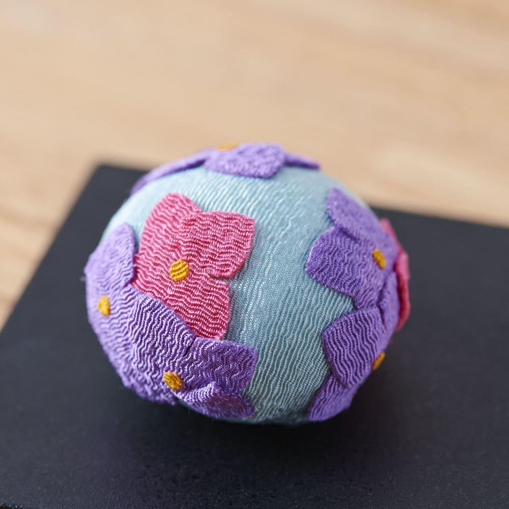 夢み屋 お香入りちりめん京菓子(お供え菓子) (イ)ブルー系 紫陽花