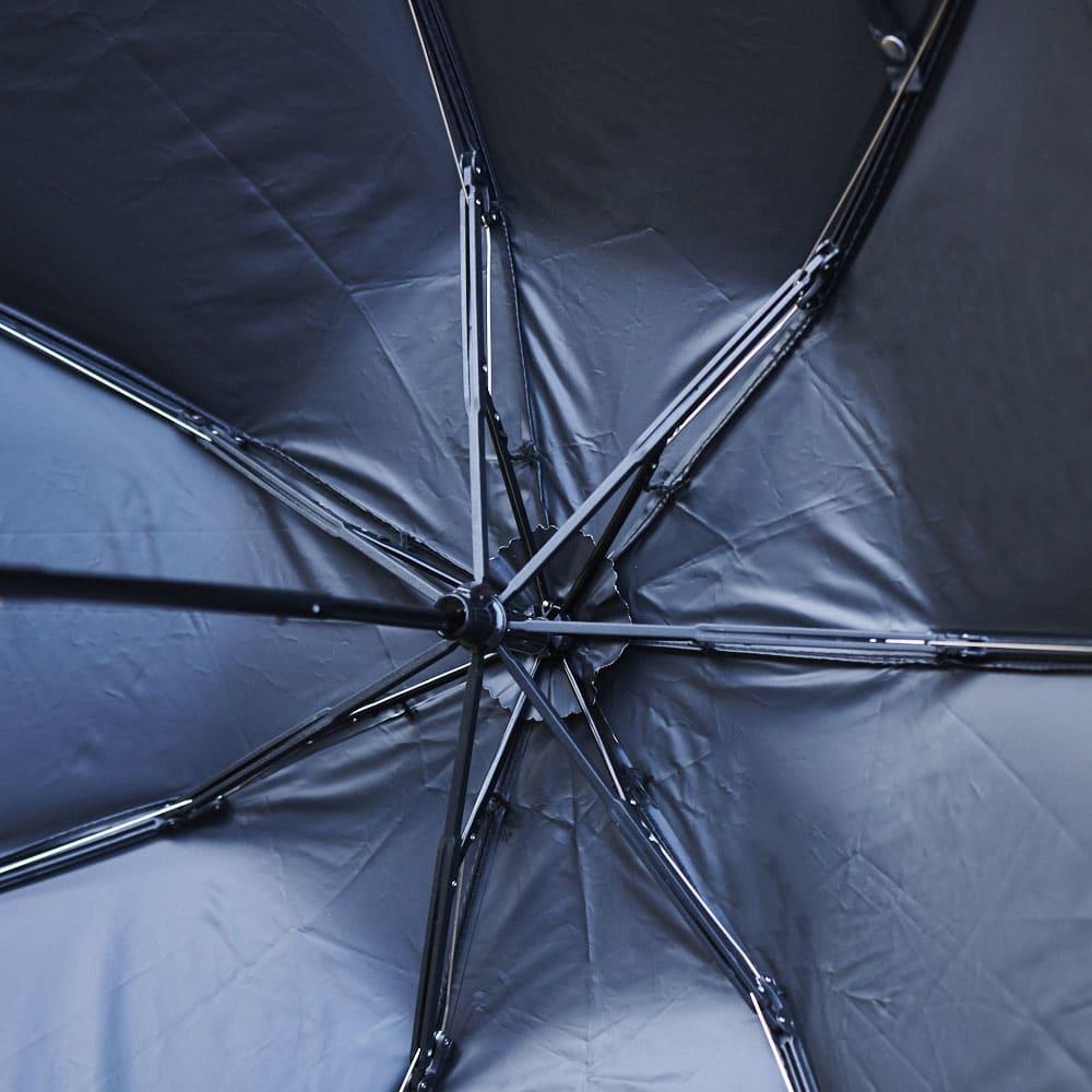 花紀行 クリスタルガラス&ペイズリー刺繍 二重張り折り畳み日傘 日傘の内部。