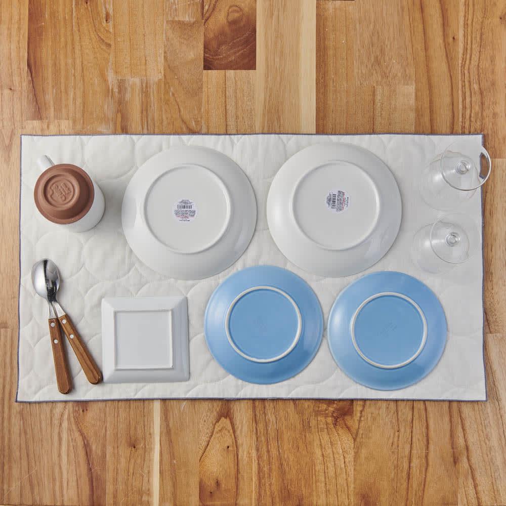 パシーマ(R)たっぷり水吸いサラリと乾く!キッチンふきん(M2枚・L1枚/ギフトボックス入りプレミアムセット) Lサイズ。お皿をのせて乾かすマットとしても活躍。