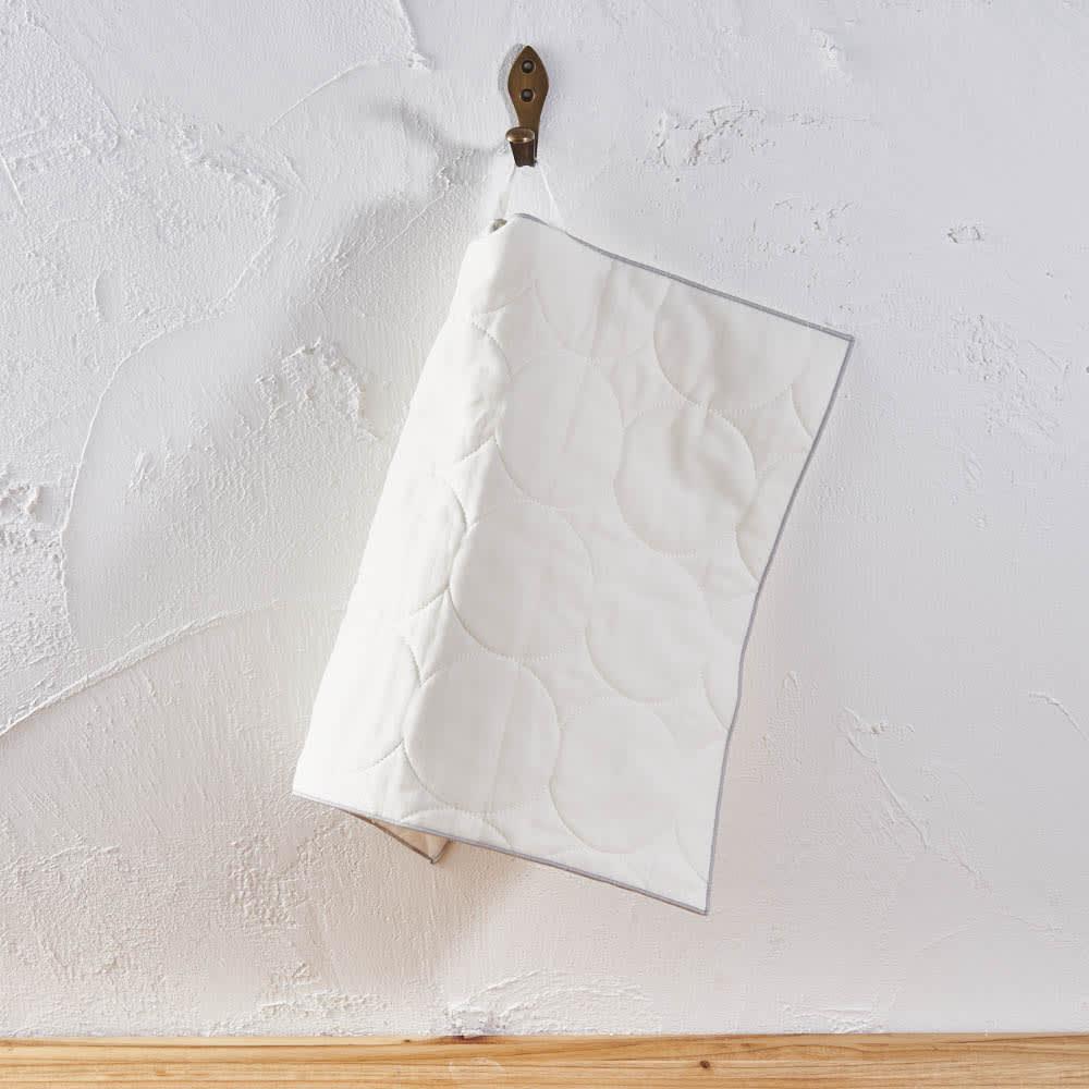 パシーマ(R)たっぷり水吸いサラリと乾く!キッチンふきん(M2枚組) フックに引っ掛けられるので、台所で便利です。