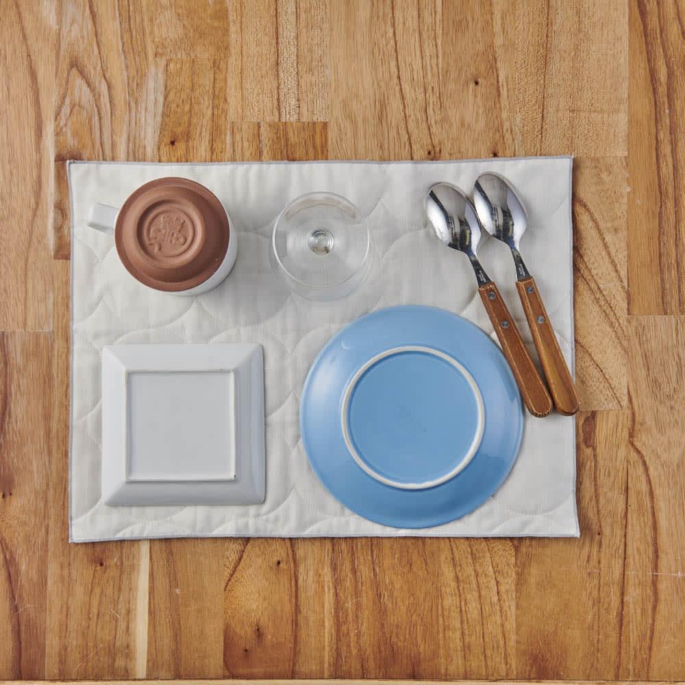 パシーマ(R)たっぷり水吸いサラリと乾く!キッチンふきん(M2枚組) お皿をのせて乾かすマットとしても活躍。