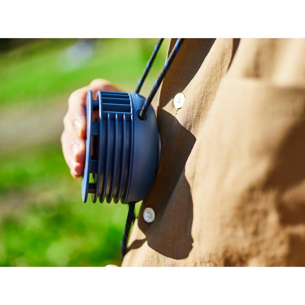 首掛け携帯用扇風機 BRUNO/ブルーノ ウェアラブルファン
