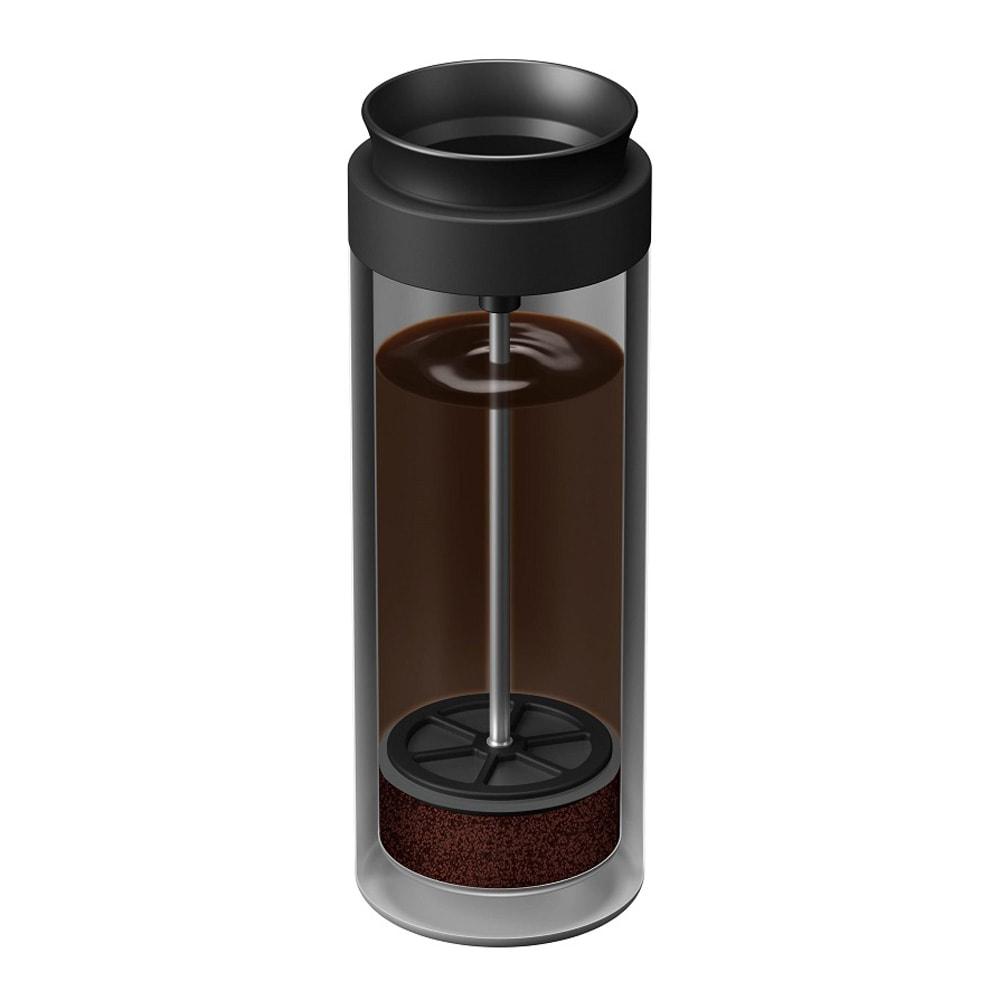 コーヒープレスボトル コトル COTTLE お湯を注ぎ、4分待ちます。