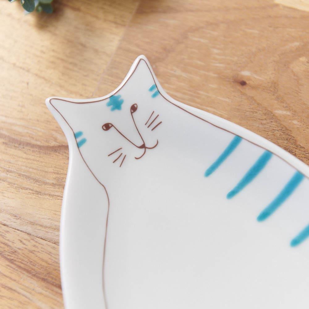 ハレクタニ ネコ皿 【選べる2枚組】