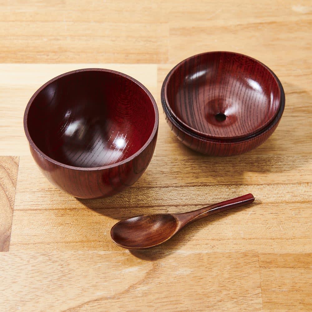 山中漆器 りんごっこ マルチカップ 1個 スプーン付き