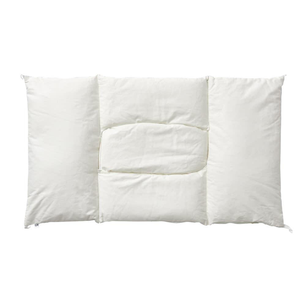 高さ・中素材を選べる!枕ギフトチケット【エアウィーヴグループ枕専門ブランド・ロフテー枕工房】 ロフテー快眠枕は5つのパーツが連結されたユニット構造。中身のかたよりがない構造で、首筋をやさしく支えます。