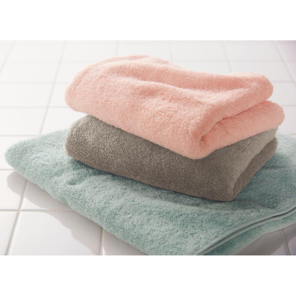 エアーかおる 今治消臭タオル エニータイム2枚組 【ギフトボックス入り】 洗面所に置いてもおしゃれなカラー。