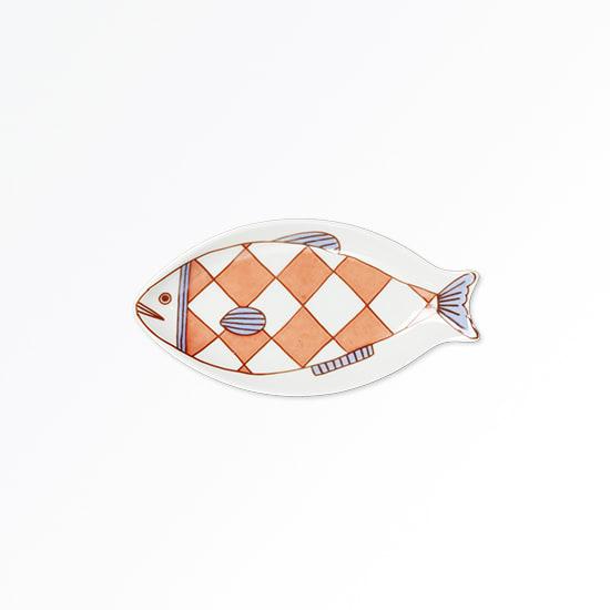 ハレクタニ 小魚皿 【選べる3枚組】 (ウ)赤