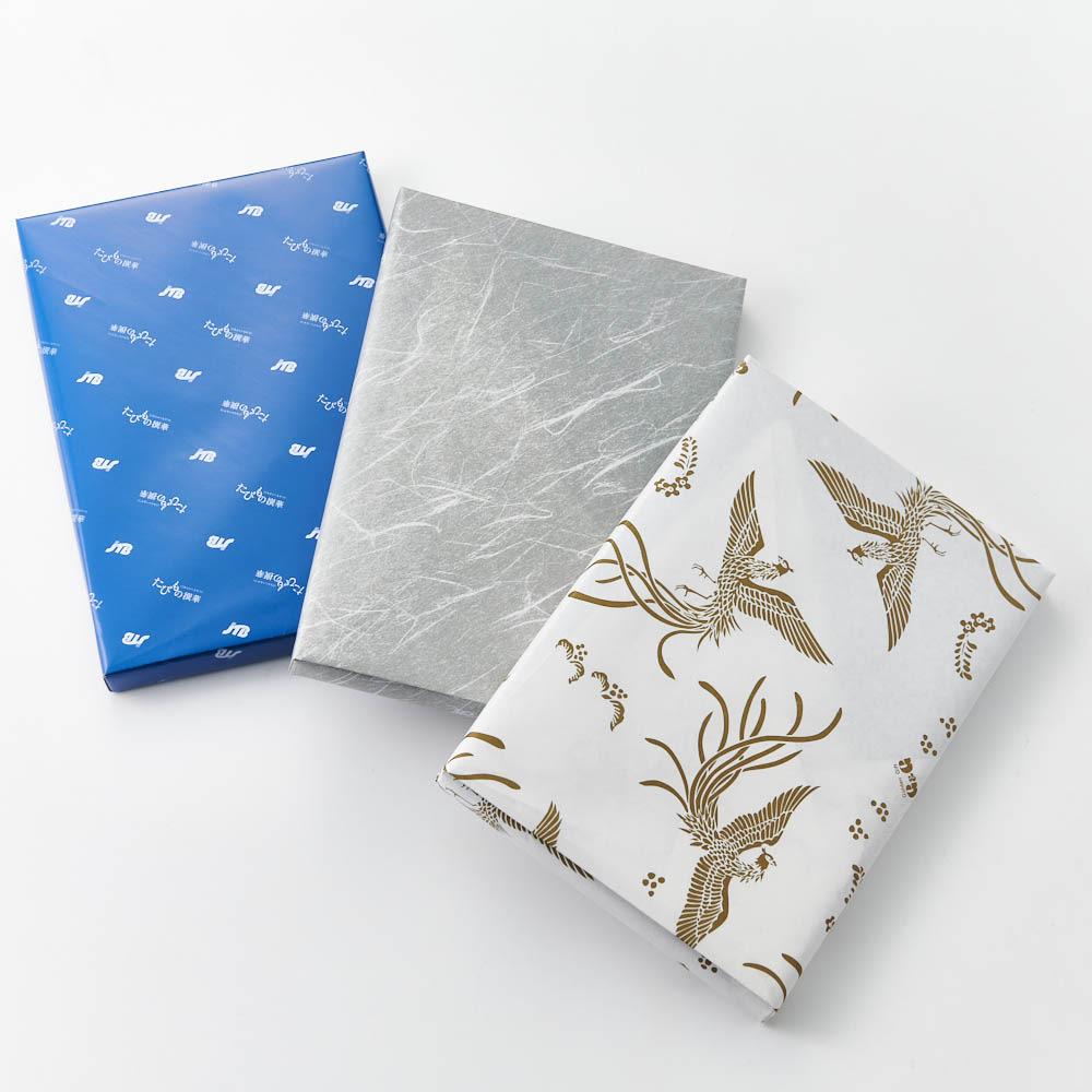 [カタログギフト]たびもの撰華 椿コース(JTBえらべるギフト) 包装紙をお選び下さい。 左より ブルー(通常)グレー(弔事用)鳳凰柄(御祝用)
