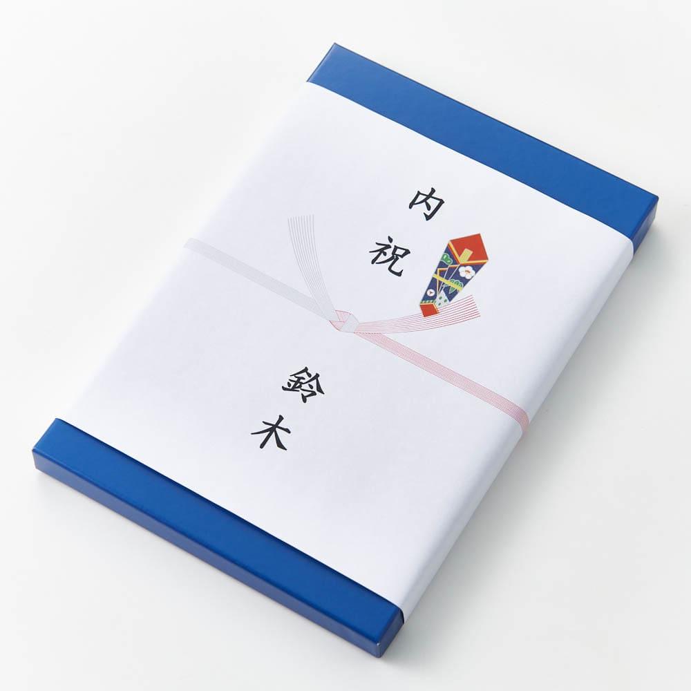 [カタログギフト]たびもの撰華 檜コース(JTBえらべるギフト) 「内のし」をご指定の際は化粧箱に直接のし掛けをした後、包装紙でお包みします。