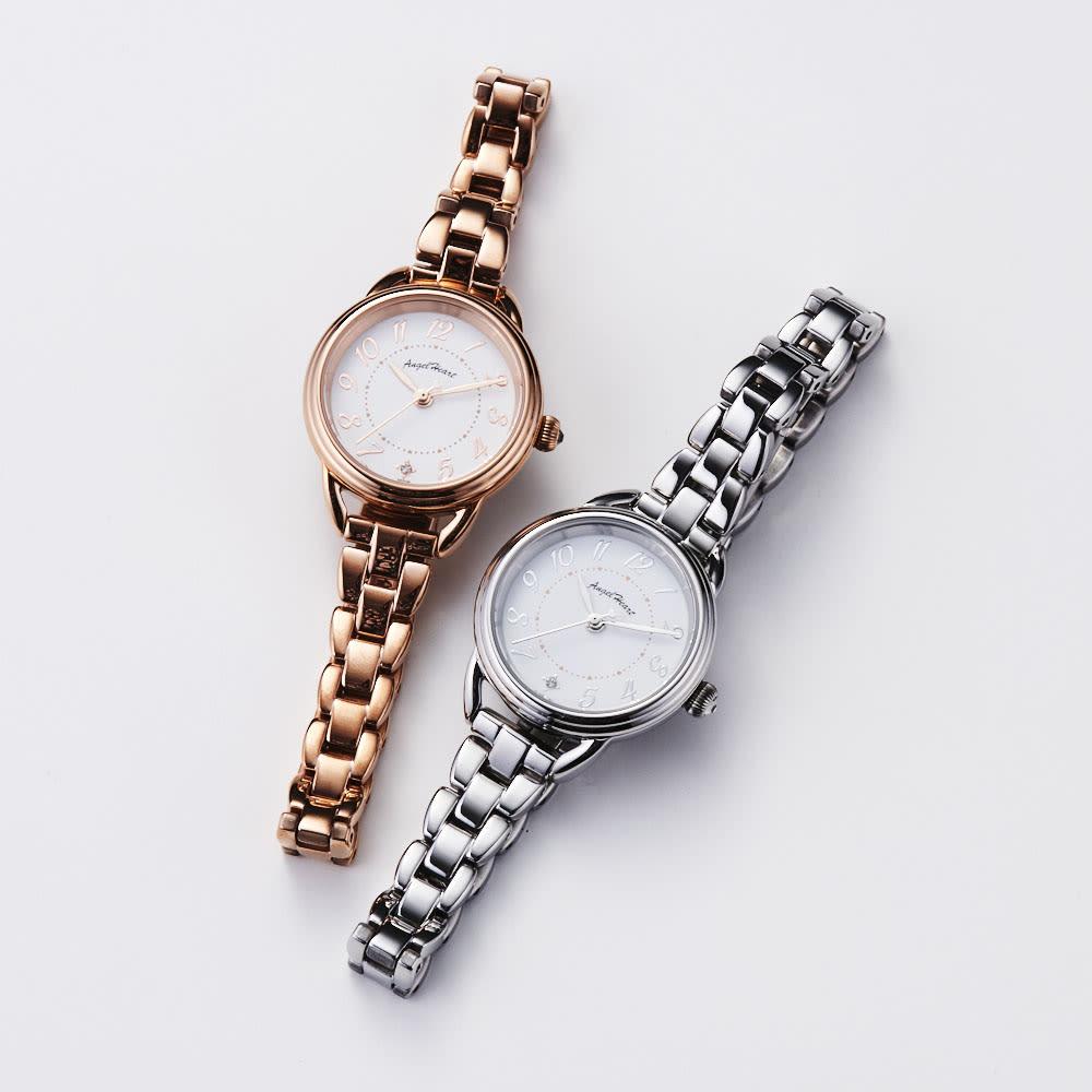 Angel Heart/エンジェルハート ファーストスター ピンクゴールド ソーラー時計 同型でシルバーカラーのタイプもございます。(商品番号:GF1614)
