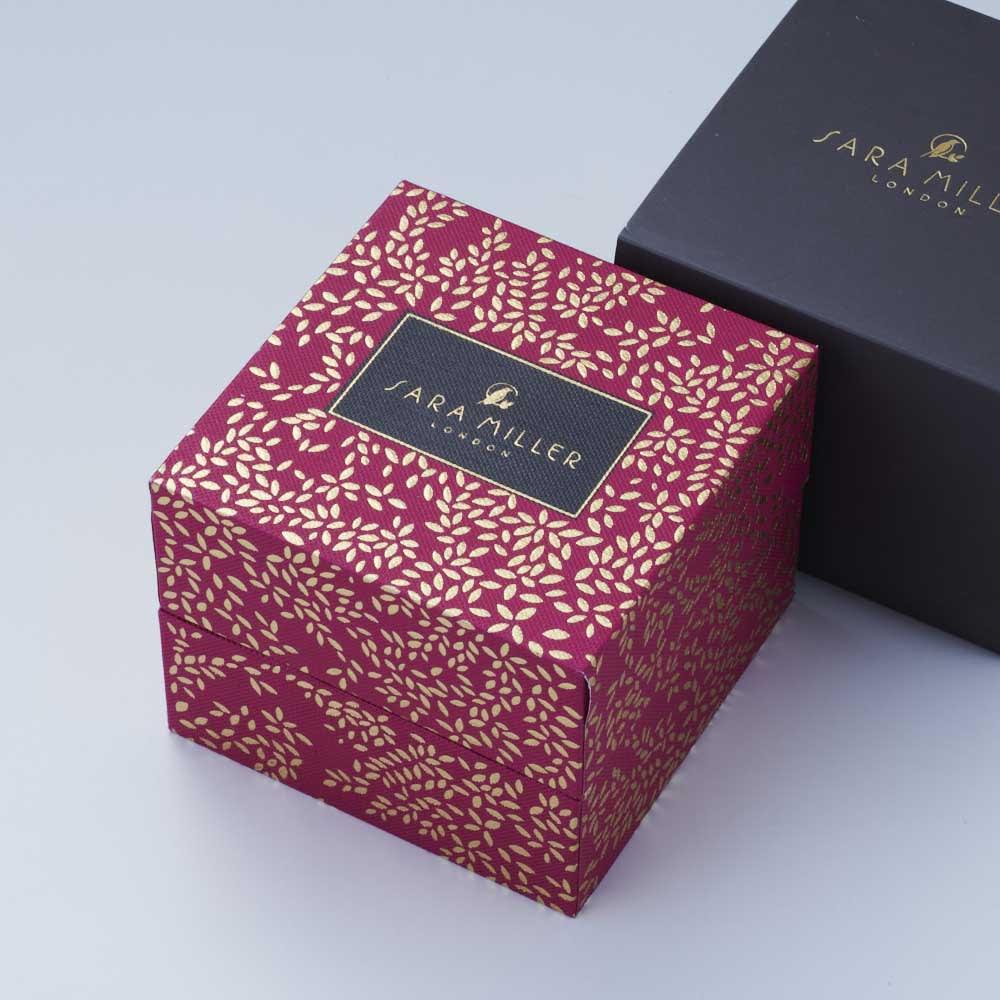 SARA MILLER LONDON/サラミラーロンドン CHELSEAコレクション レザーベルト 38mm (ア)グリーンXチャコール、(イ)ネイビーXネイビーは赤のボックスでお届けします。
