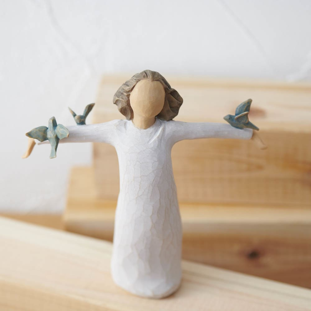 ウィローツリー彫像 Happiness 幸せ