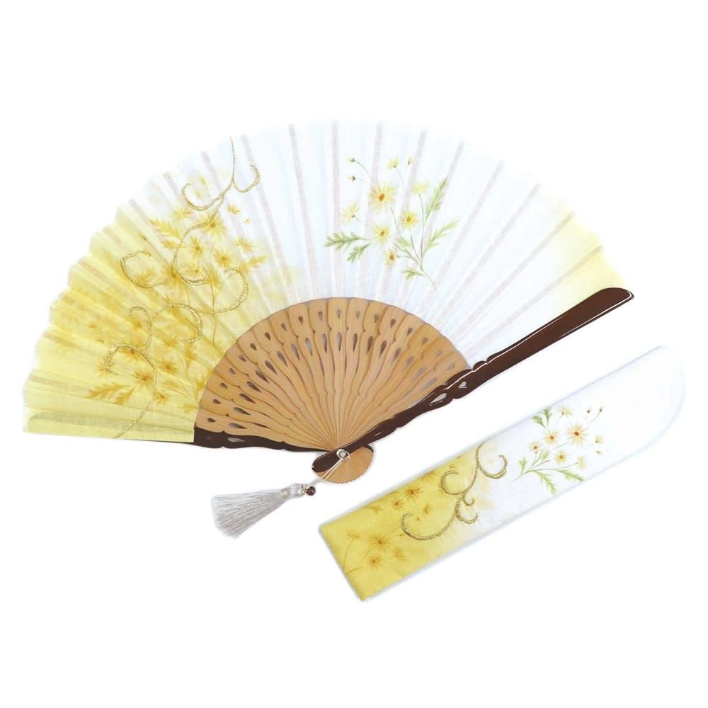 白竹堂 誕生花扇子 バースデーフラワー (ア)1月マーガレット