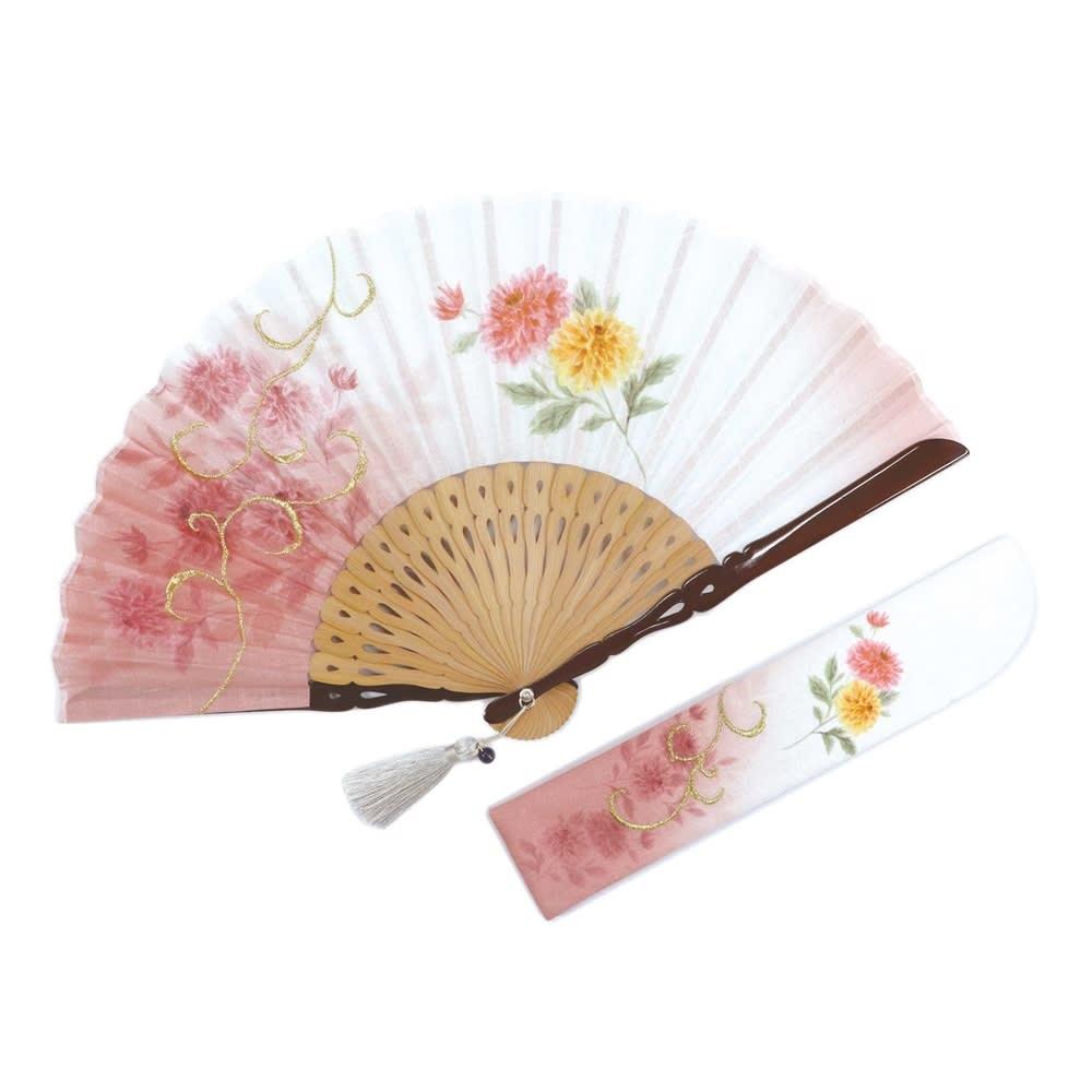 白竹堂 誕生花扇子 バースデーフラワー (エ)4月ラナンキュラス