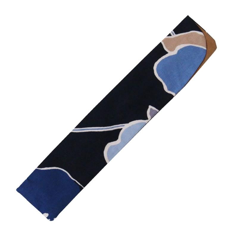 白竹堂扇子 フローレン (エ)ネイビー 扇子袋付きです。