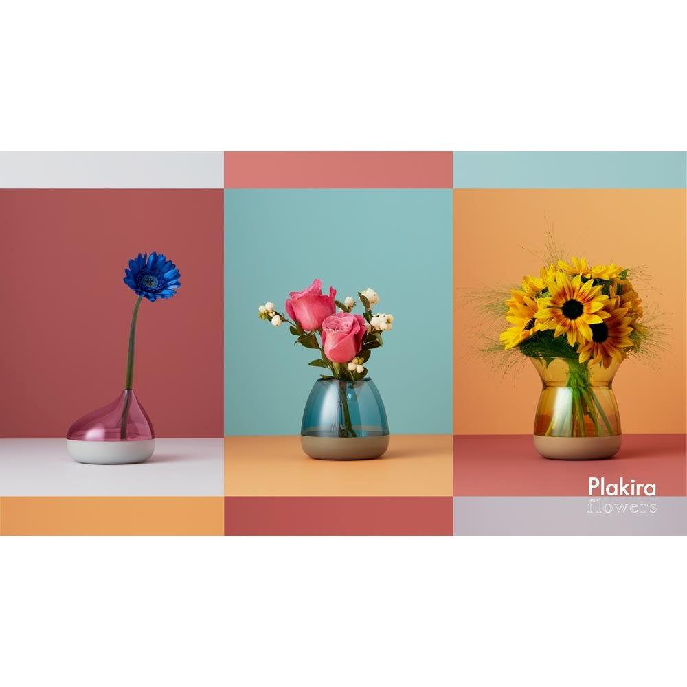 フラワーベース Plakira flowers (一輪挿し用) ※イメージカット シリーズで複数揃えれば、トップとボトムを自由に着せ替えられます。お届けの商品とは色の組み合わせが異なります。