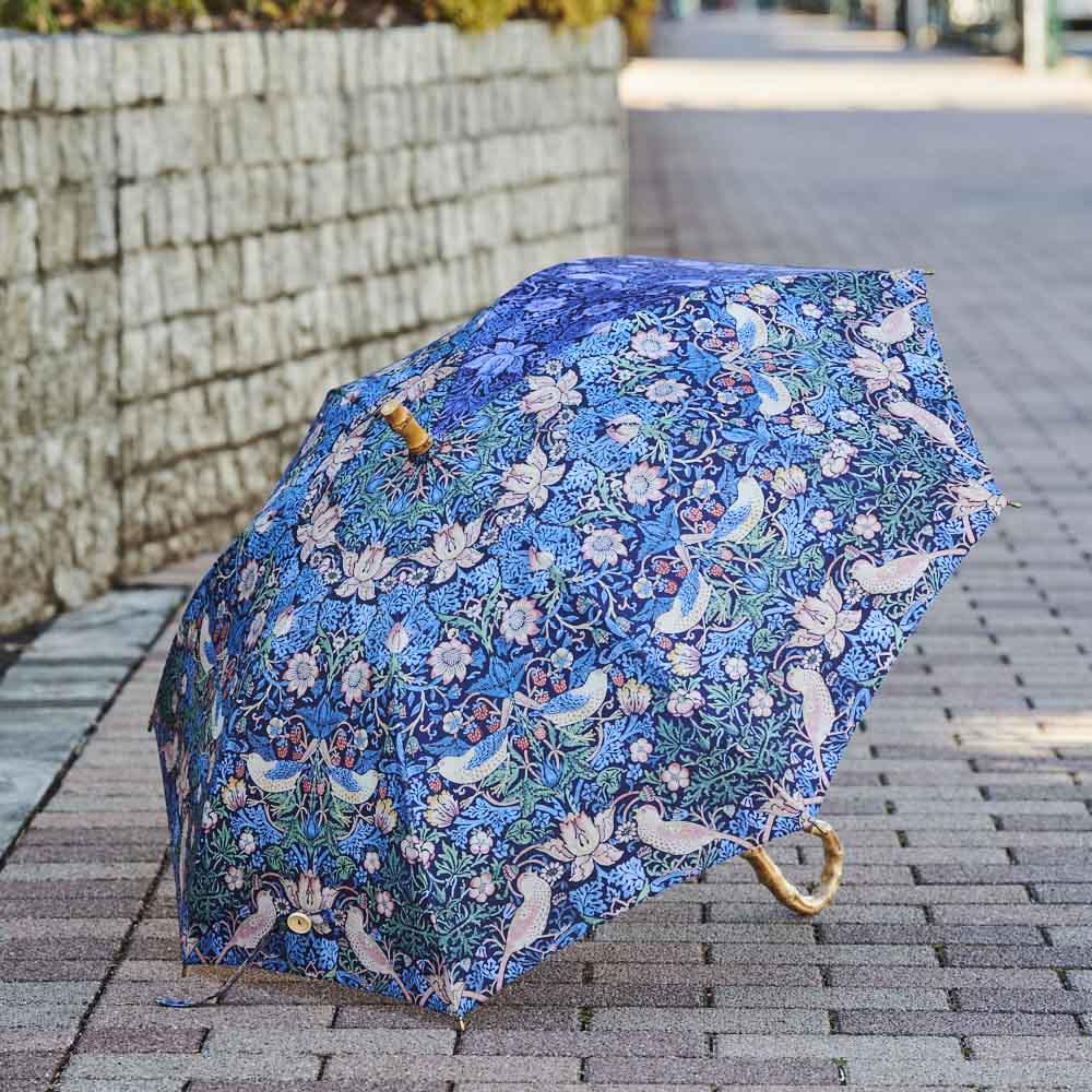 UVカット晴雨兼用長傘 ウィリアムモリス