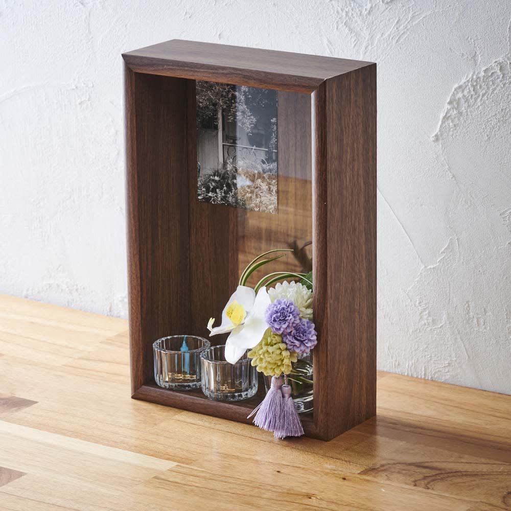 ミニ仏壇 胡蝶蘭マジックウォーターミニ供花付き ※ガラスの器・お線香・ロウソクは付きません