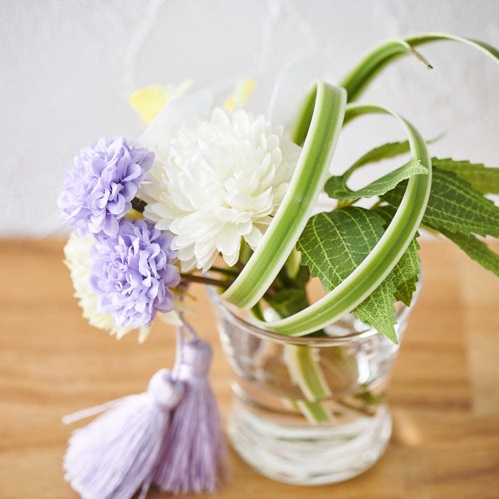 ミニ仏壇 胡蝶蘭マジックウォーターミニ供花付き