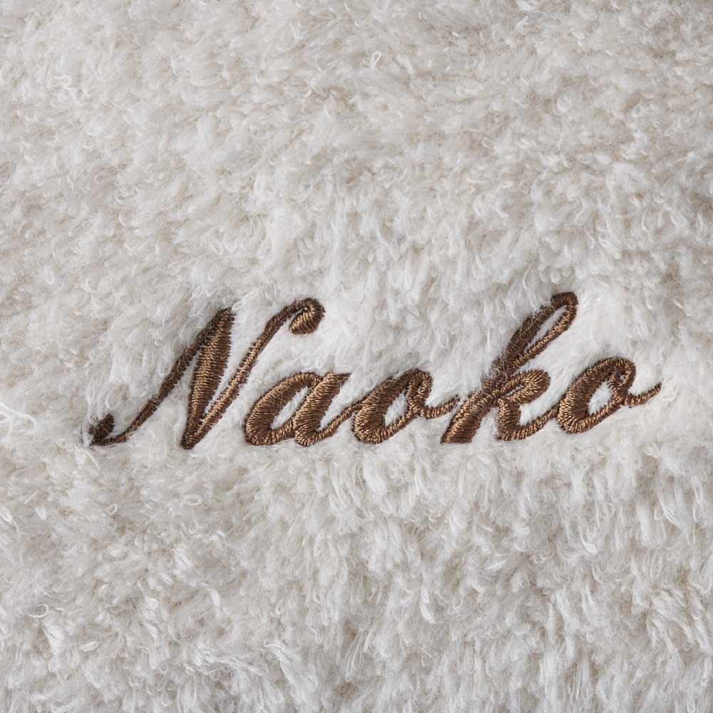 【お名前刺繍】UCHINO 奇跡のタオル®スーパーマシュマロ® スモールバスタオル1枚入り (イ)ベージュ ※ベージュのみ刺繍糸のカラーがブラウンとなります。