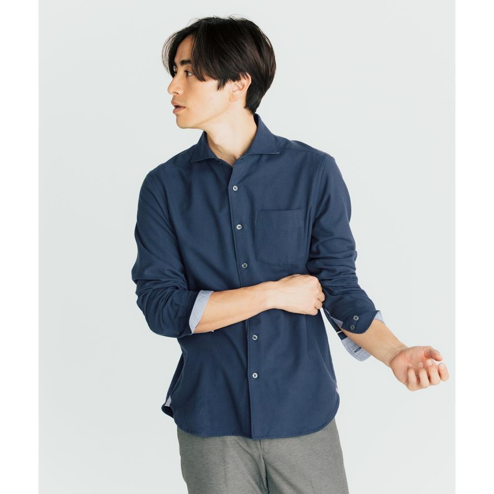 SCENE(R) タオルシャツ (エ)ネイビー コーディネート例