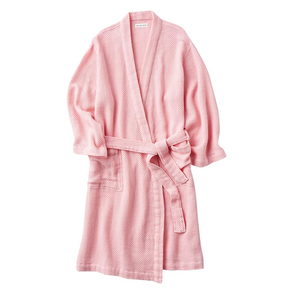 UCHINO ウチノ エアーワッフルライトローブ(男女兼用) (ウ)ピンク