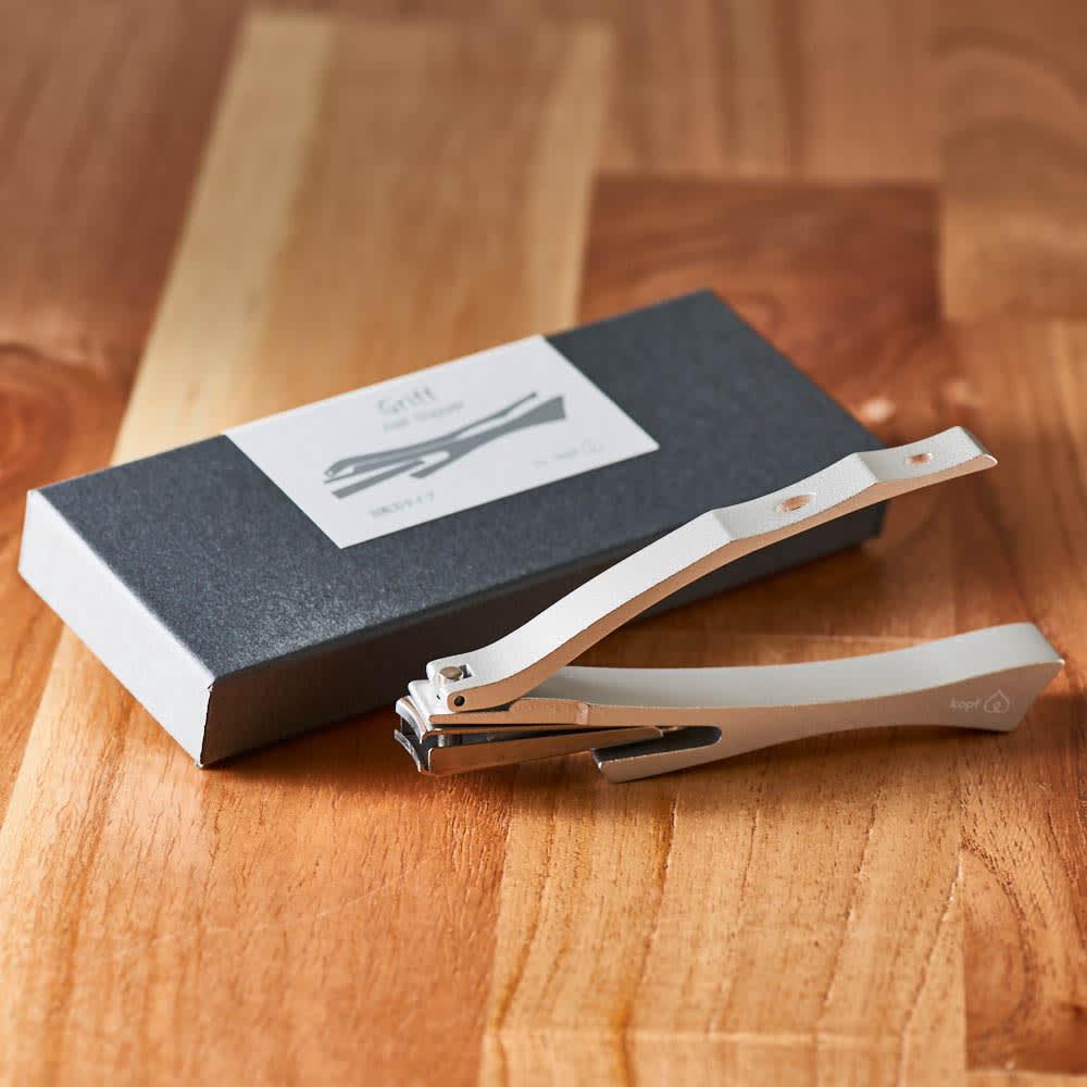 kopfシリーズ・ネイルクリッパーGriff 回転刃タイプ爪切り 美しいアルミ合金の光沢が輝く、爪切り・グリフ。