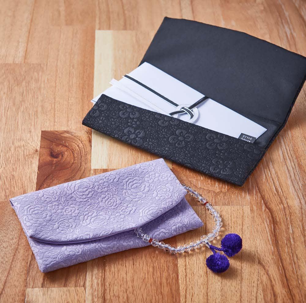 礼節セット(レディース)袱紗&念珠入れ  女性向けの袱紗・念珠入れのセット ※小道具は商品に含まれません。