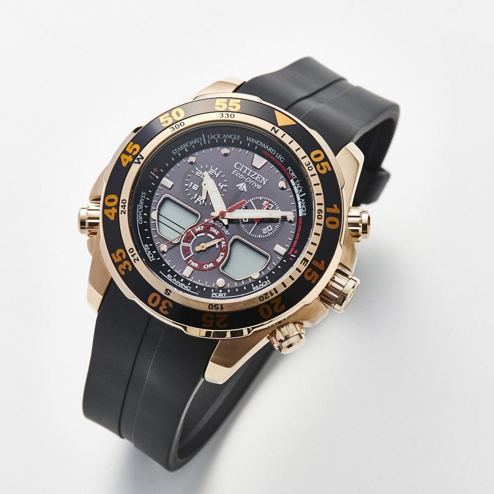 CITIZEN/シチズン 【メンズ】 エコ・ドライブ腕時計 ヨットタイマー搭載 JR4046-03E