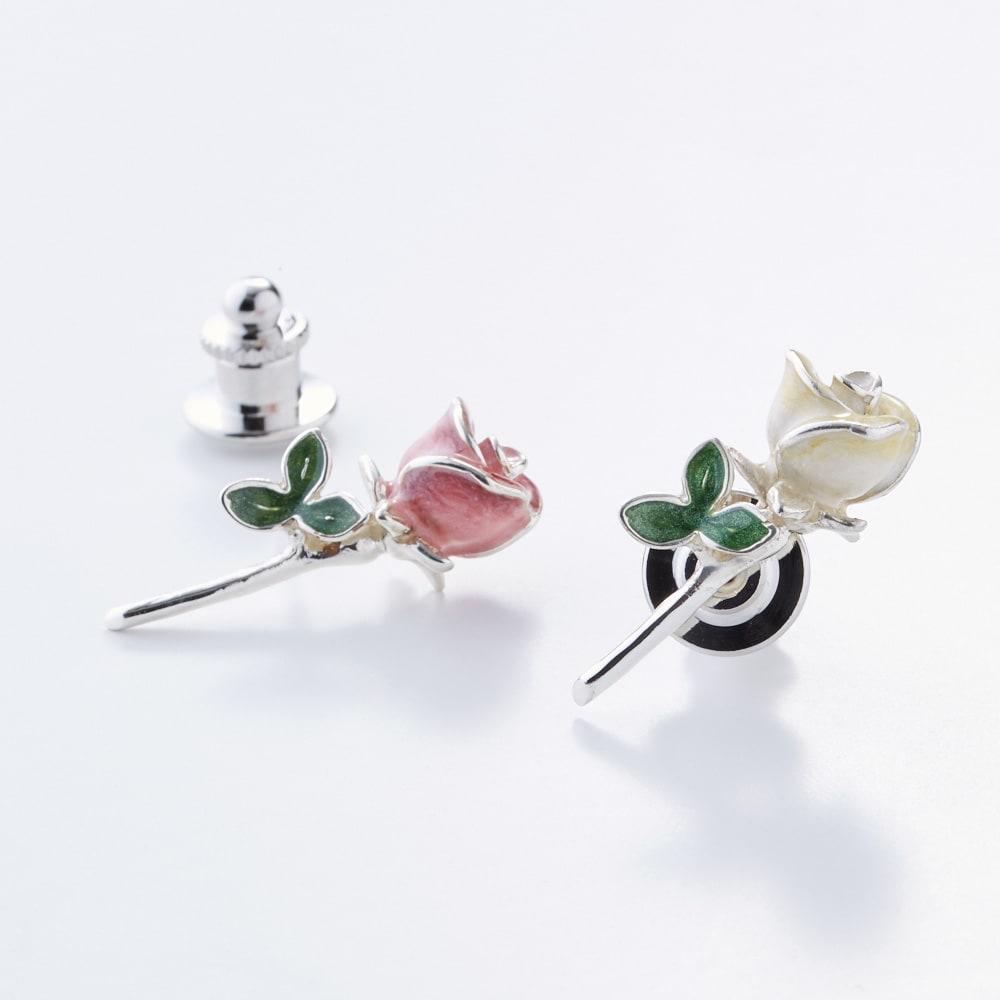 サツルノ バラピンブローチ(イタリア製) ピンク 【通販】 【レディース・女性】