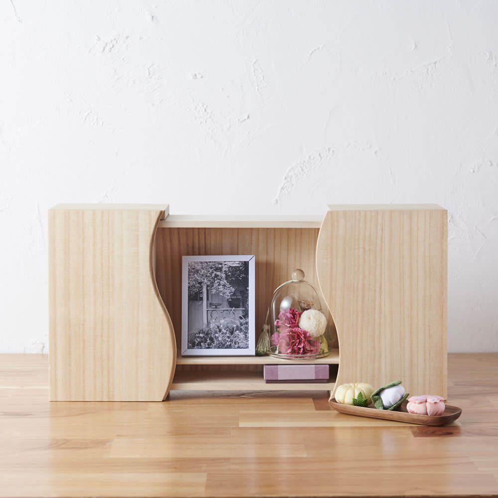 家具 収納 仏壇仏具 想ひ箱 日本製ミニ仏壇 ナチュラル GF1011