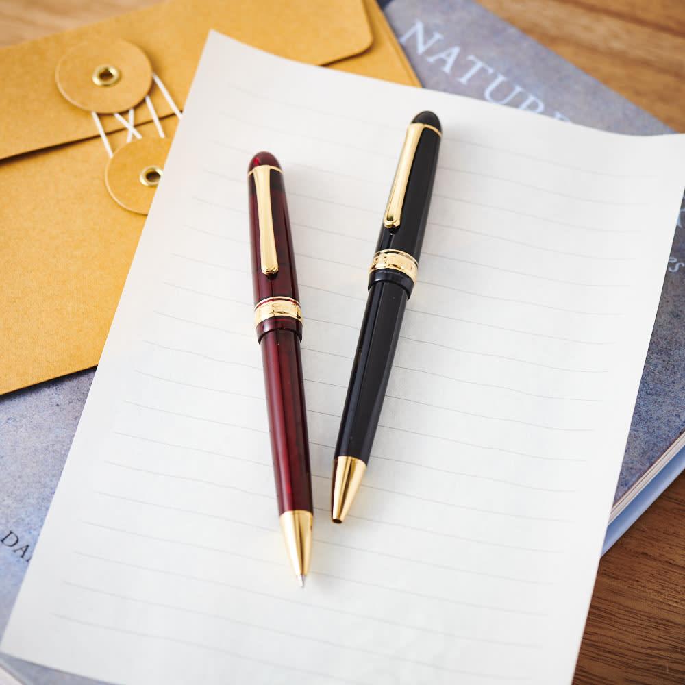 オーダー名前入れ  プラチナ万年筆 ボールペン 左から(イ)ブルゴーニュ (ア)ブラック