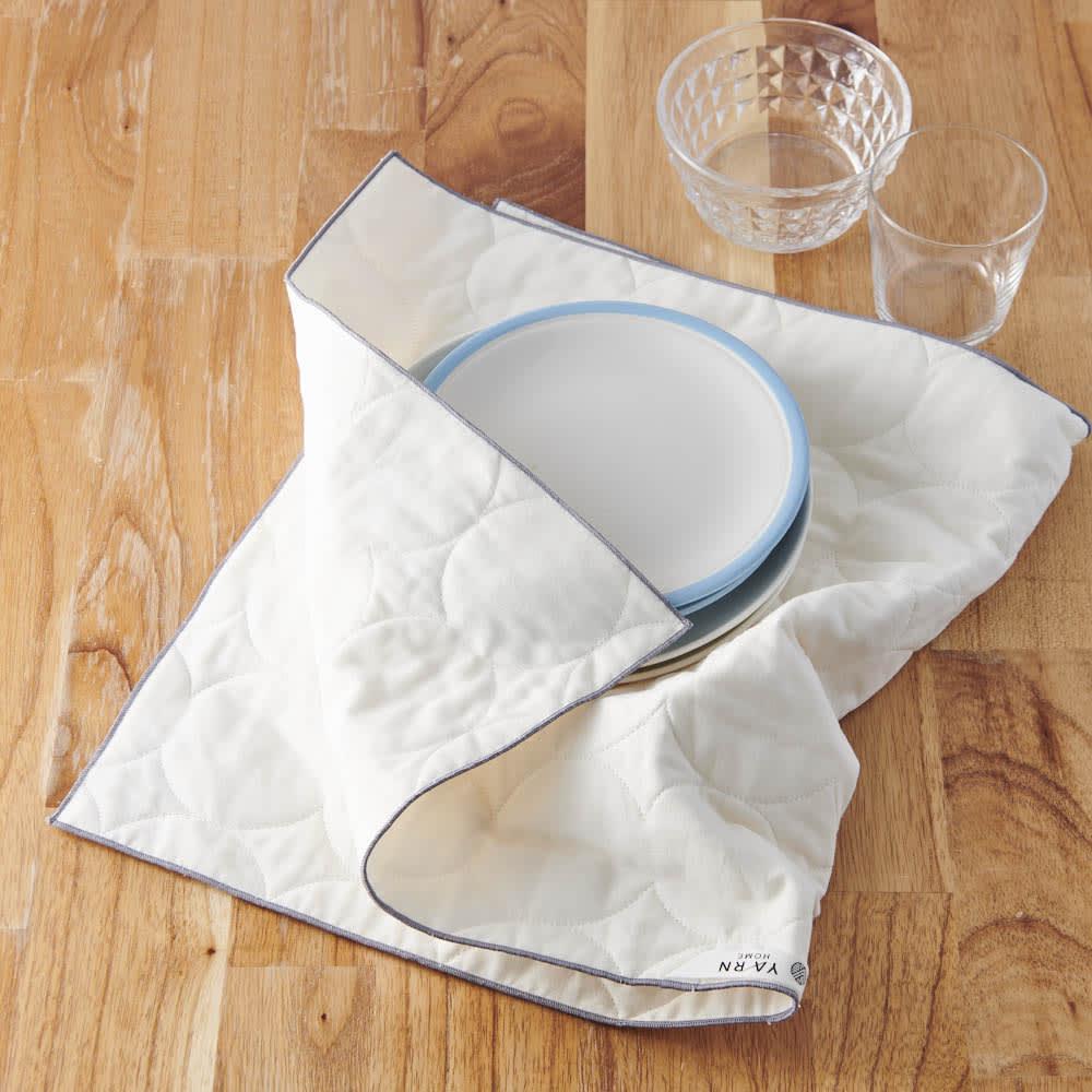パシーマ(R)たっぷり水吸いサラリと乾く!キッチンふきん(L1枚) アイボリー L タオル・スリッパ