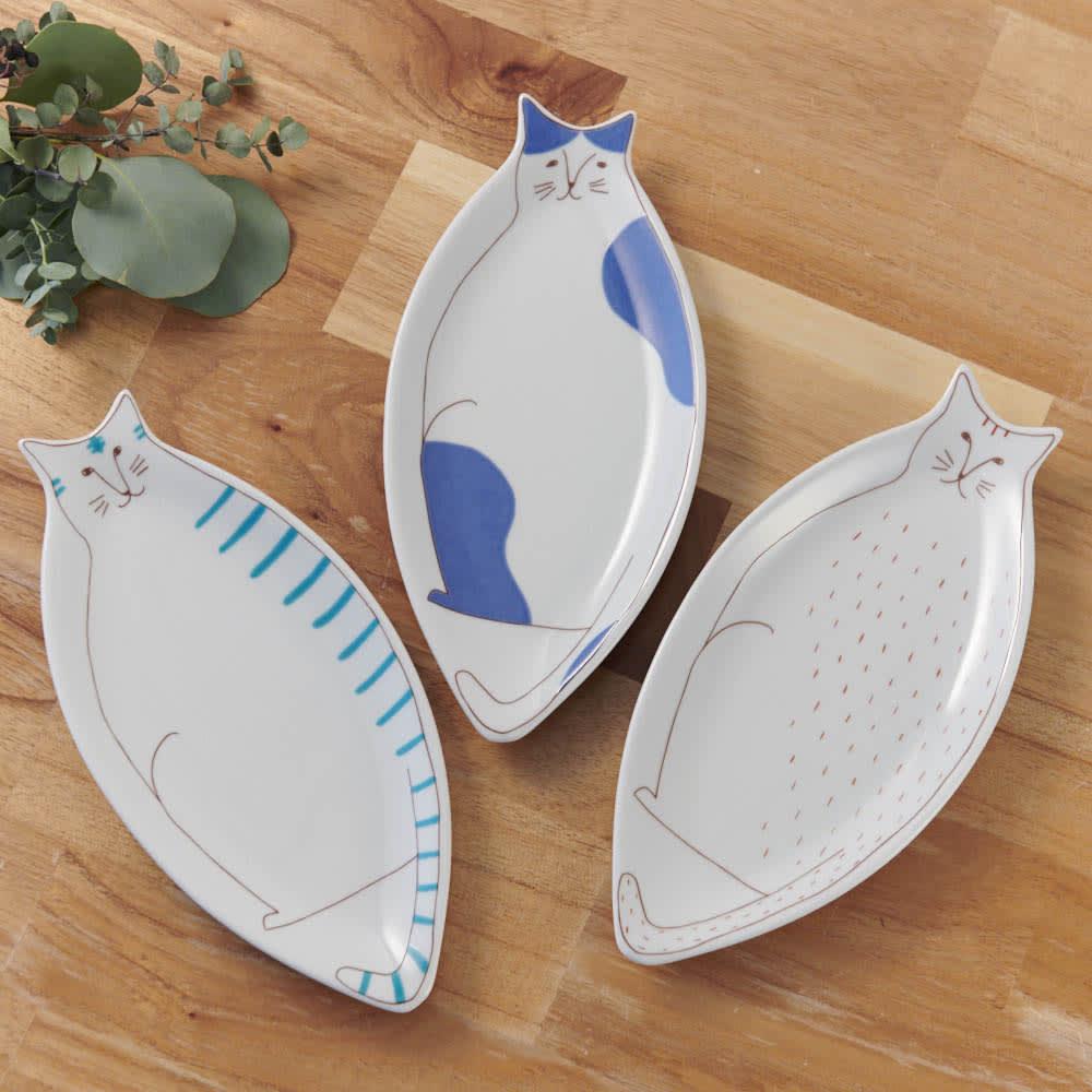 ハレクタニ ネコ皿 【選べる2枚組】 新しい九谷焼「ハレクタニ」。人気のネコデザインです。