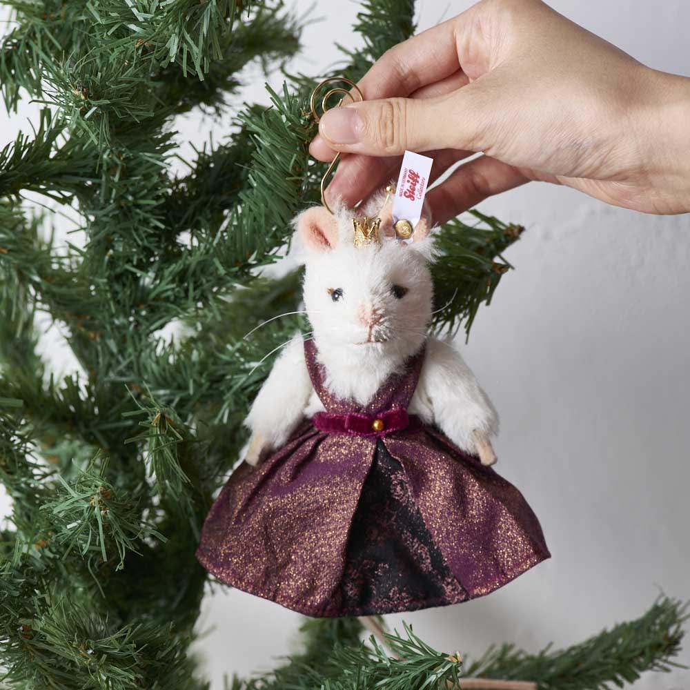 Steiff/シュタイフ オーナメント マウスクィーン クリスマスツリー・飾り・オーナメント