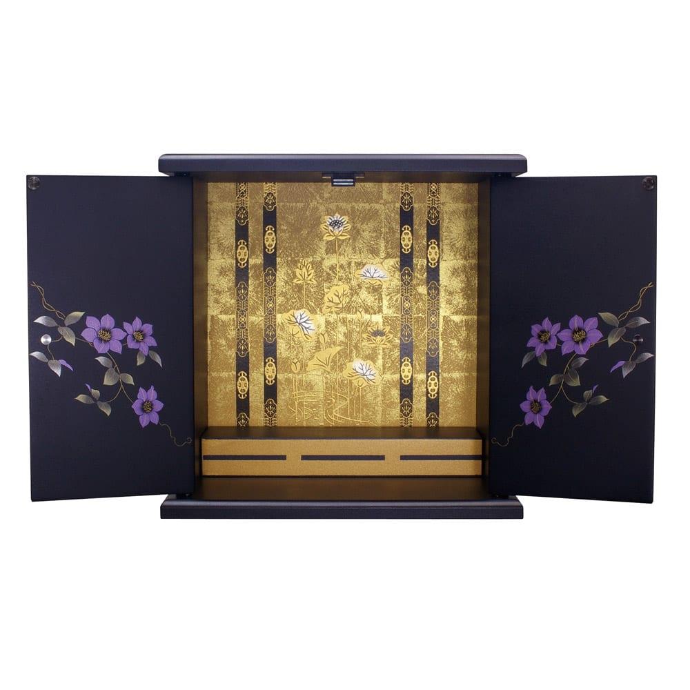 漆器ミニ仏壇 鉄仙 小 ブラック 仏壇仏具