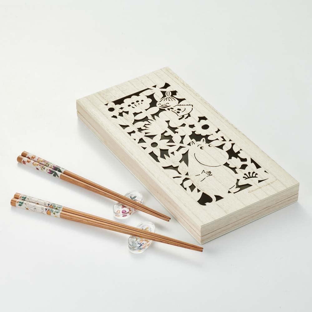 ムーミン 木箱入りペア箸セット 箸・箸置き