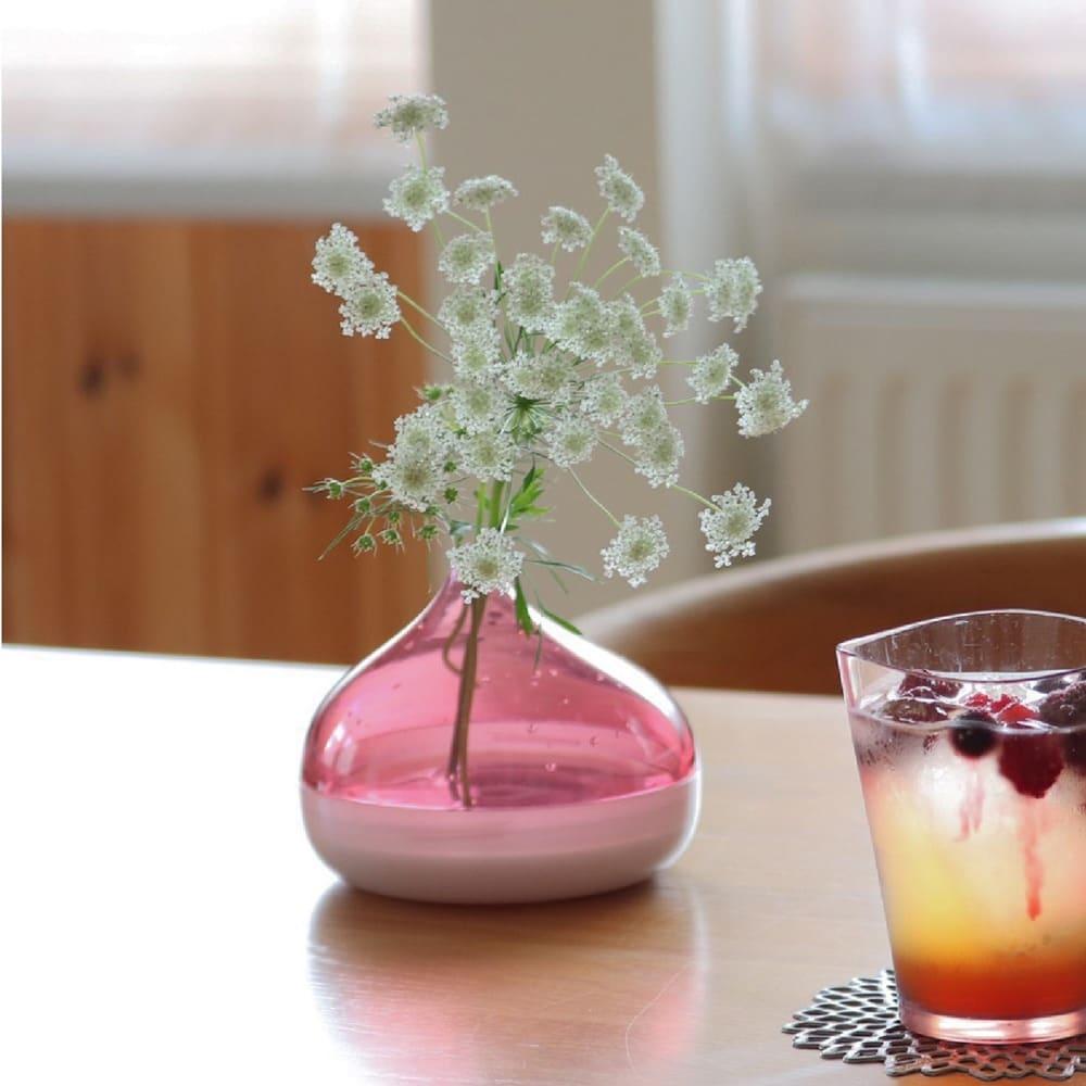フラワーベース Plakira flowers (一輪挿し用) (ウ)ピンク